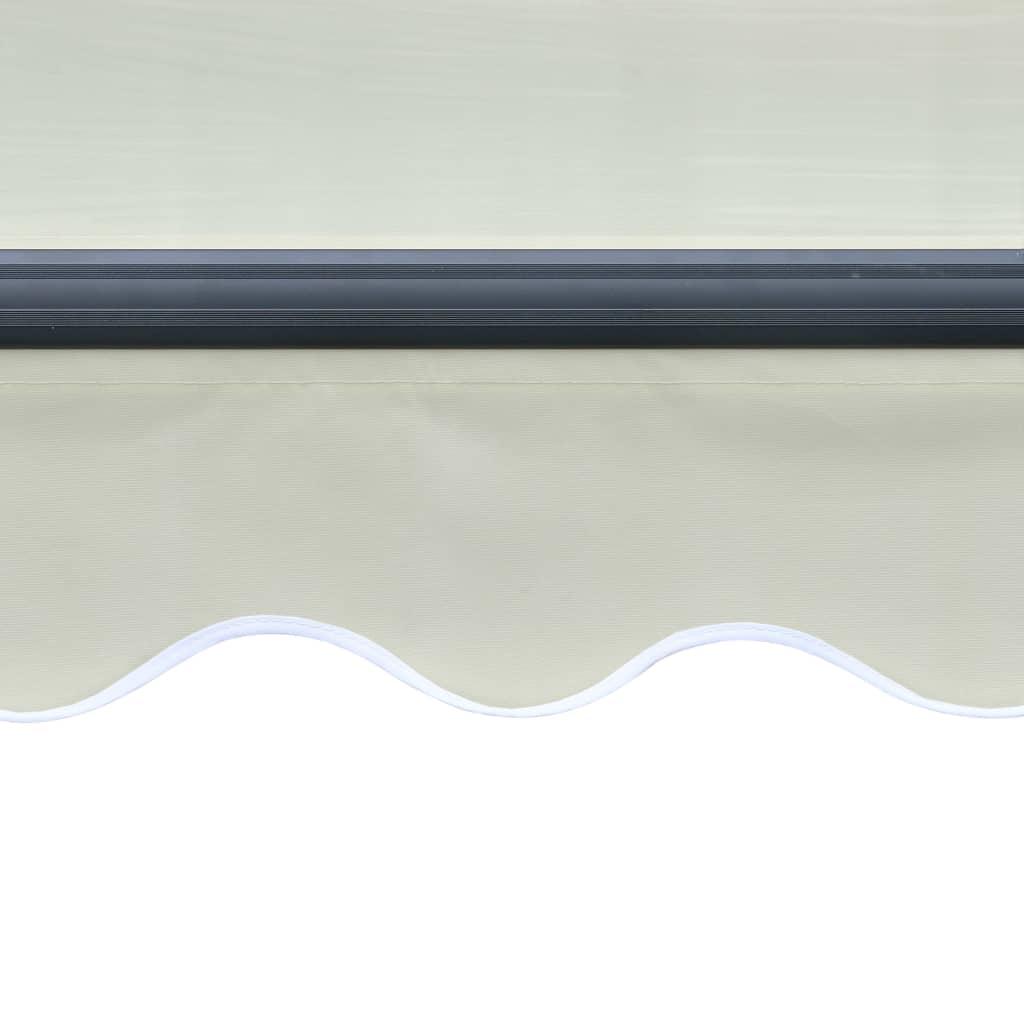 Copertină retractabilă cu senzor vânt & LED, crem, 300×250 cm