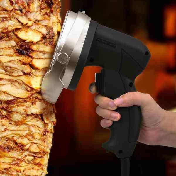vidaXL Feliator electric kebab Doner cu 2 lame și tocilă, 100 mm