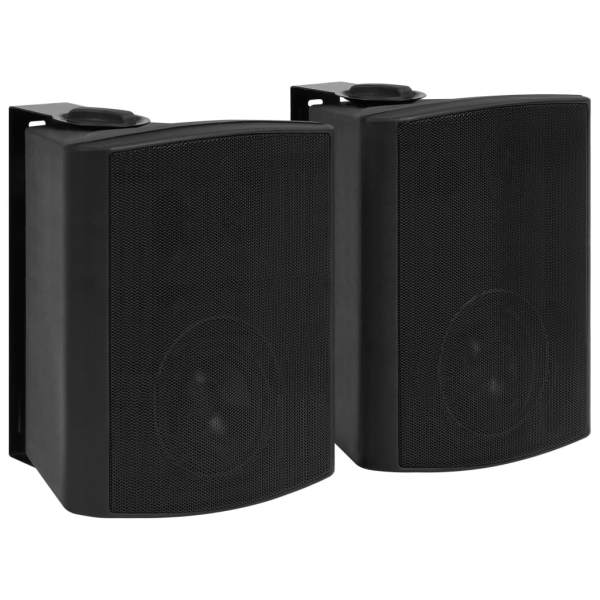 vidaXL Boxe stereo de perete, interior/exterior, 2 buc. negru, 120 W