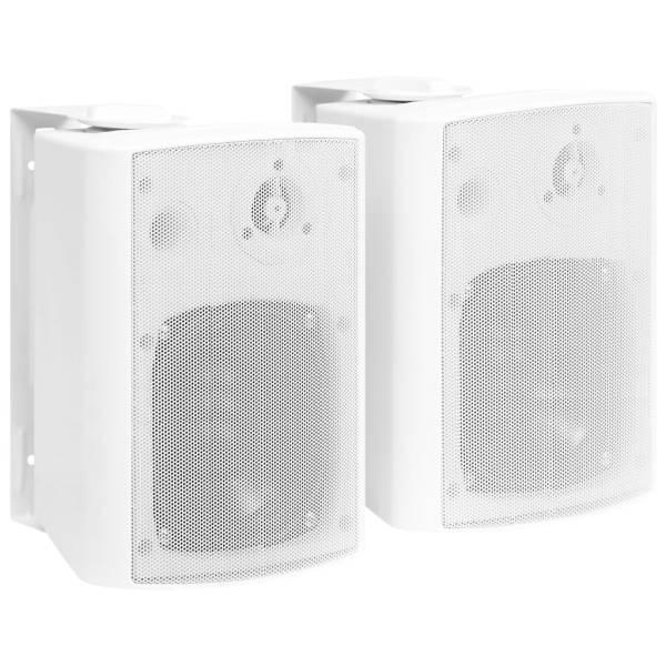 vidaXL Boxe stereo de perete, interior/exterior, 2 buc., alb, 100 W