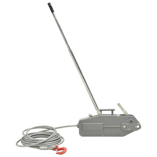 vidaXL Troliu de ridicare cu cablu de sârmă, 3200 kg