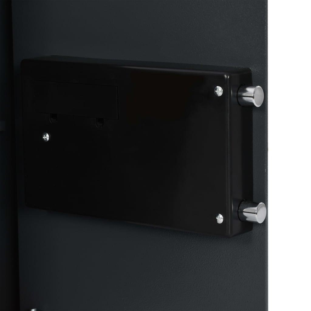 Seif digital cu amprentă, gri închis, 35 x 31 x 50 cm