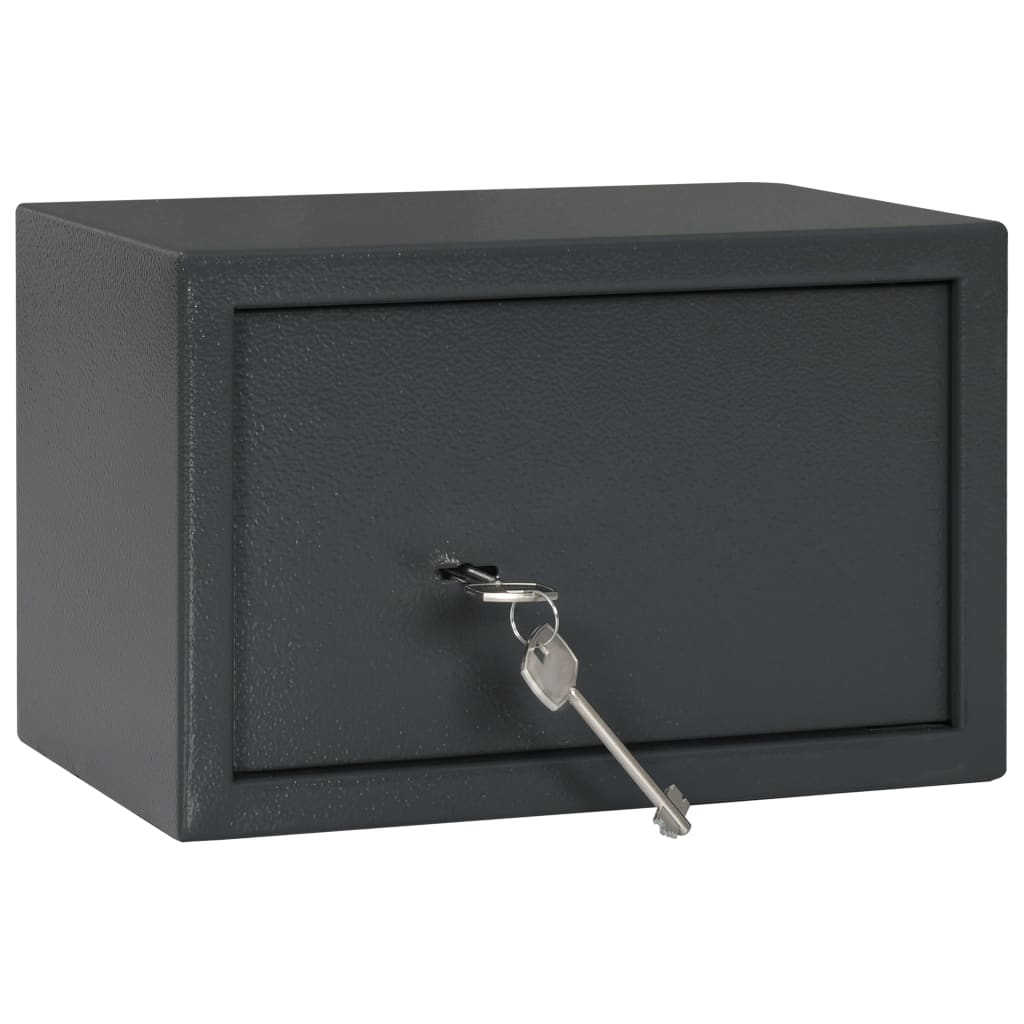 vidaXL Seif mecanic, gri închis, 31 x 20 x 20 cm, oțel