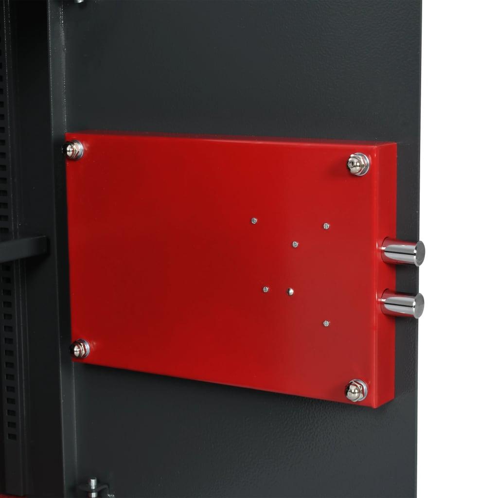 vidaXL Seif mecanic, gri închis, 35 x 31 x 50 cm, oțel