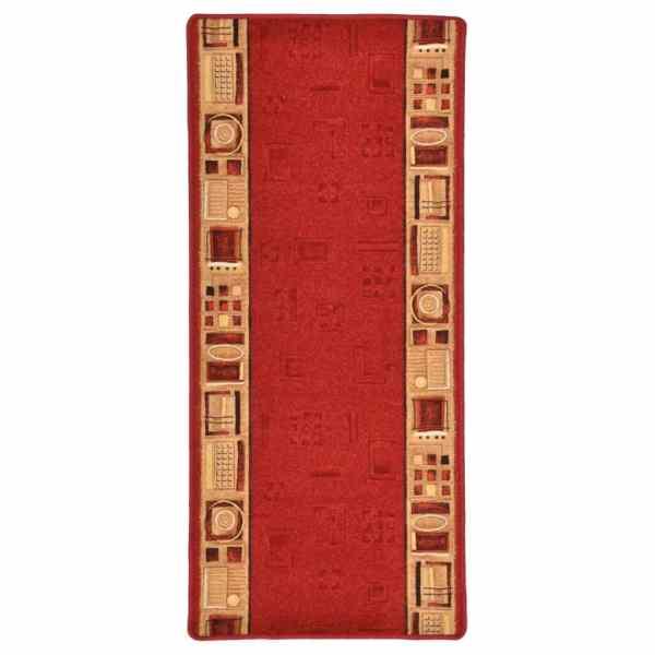 vidaXL Covor traversă, suport gel, roșu, 67 x 200 cm