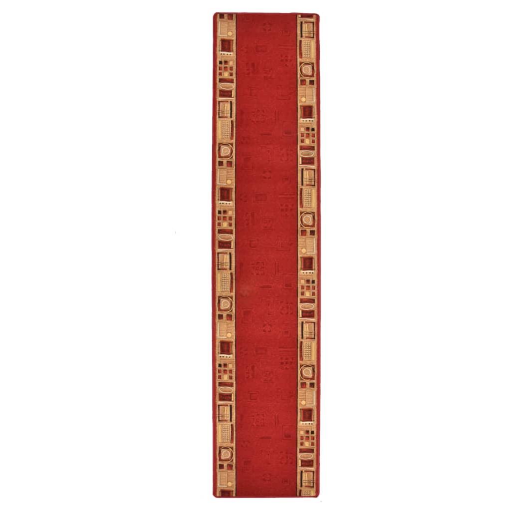 vidaXL Covor traversă, suport gel, roșu, 67 x 250 cm
