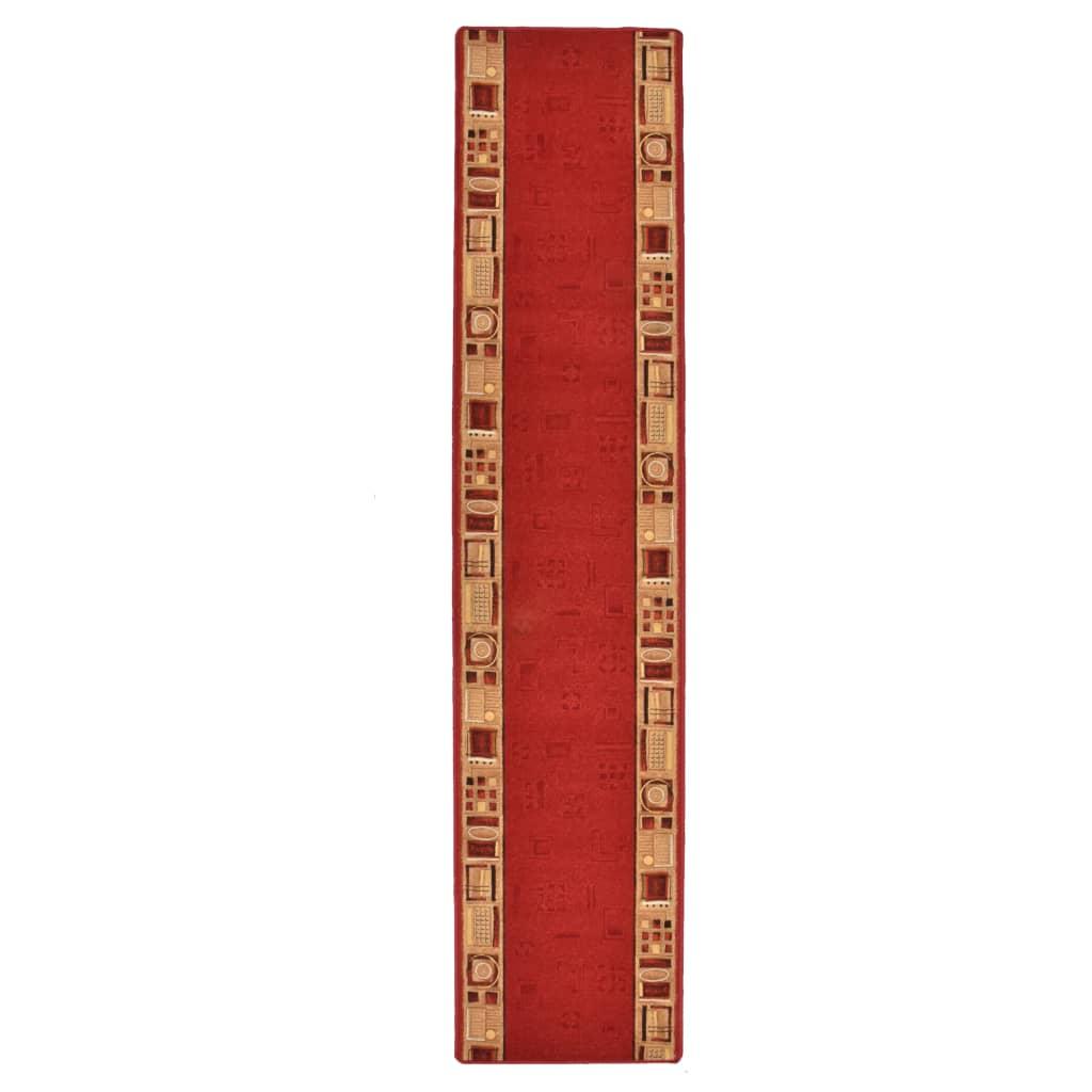 vidaXL Covor traversă, suport gel, roșu, 67 x 300 cm