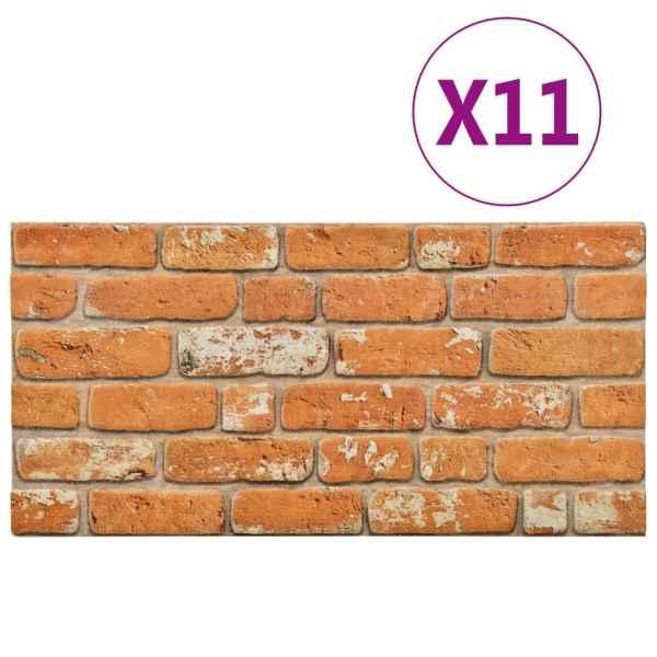 Panouri de perete 3D, model cărămidă, maro deschis, 11 buc. EPS
