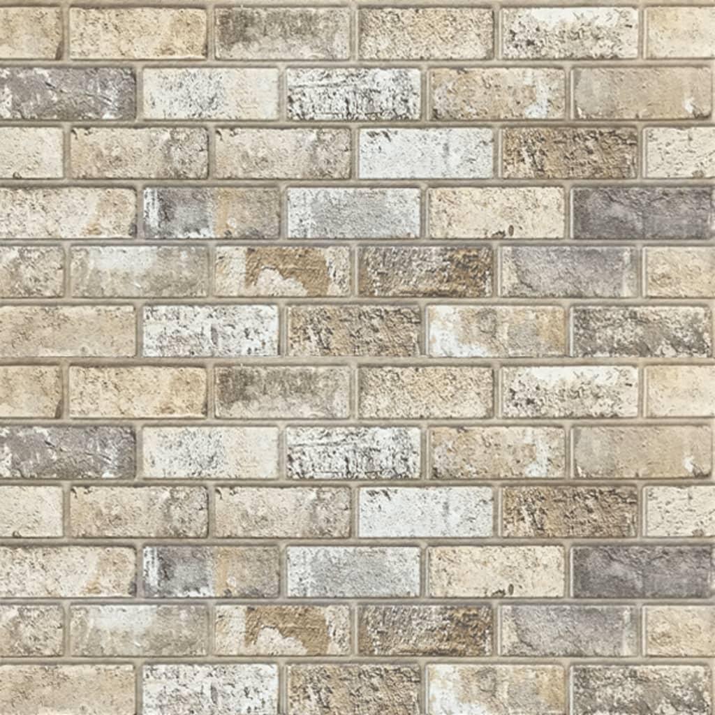 Panouri de perete 3D, model cărămidă, nisipiu, 11 buc., EPS