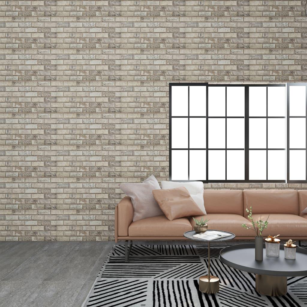 vidaXL Panouri de perete 3D, model cărămidă, nisipiu, 11 buc., EPS