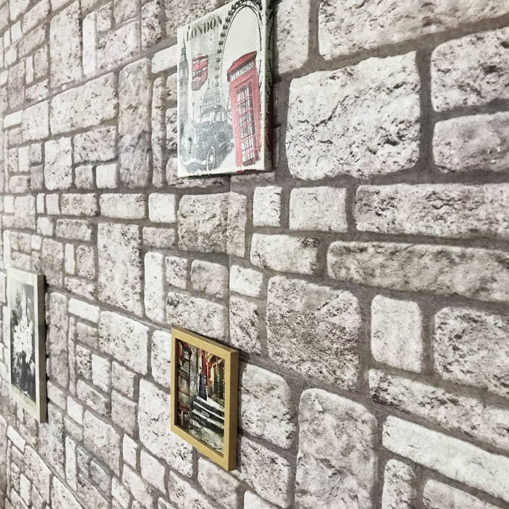 vidaXL Panouri de perete 3D, model cărămidă, gri, 11 buc., EPS