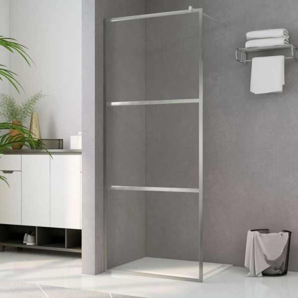 vidaXL Paravan de duș walk-in, 90 x 195 cm, sticlă ESG transparentă