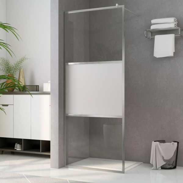 vidaXL Paravan de duș walk-in, 140 x 195 cm, sticlă ESG semi-mată