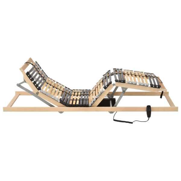 Bază de pat electrică cu șipci, 42 șipci, 7 zone, 70 x 200 cm