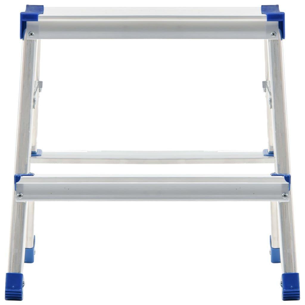 vidaXL Scară dublă din aluminiu cu 2 trepte, 44 cm