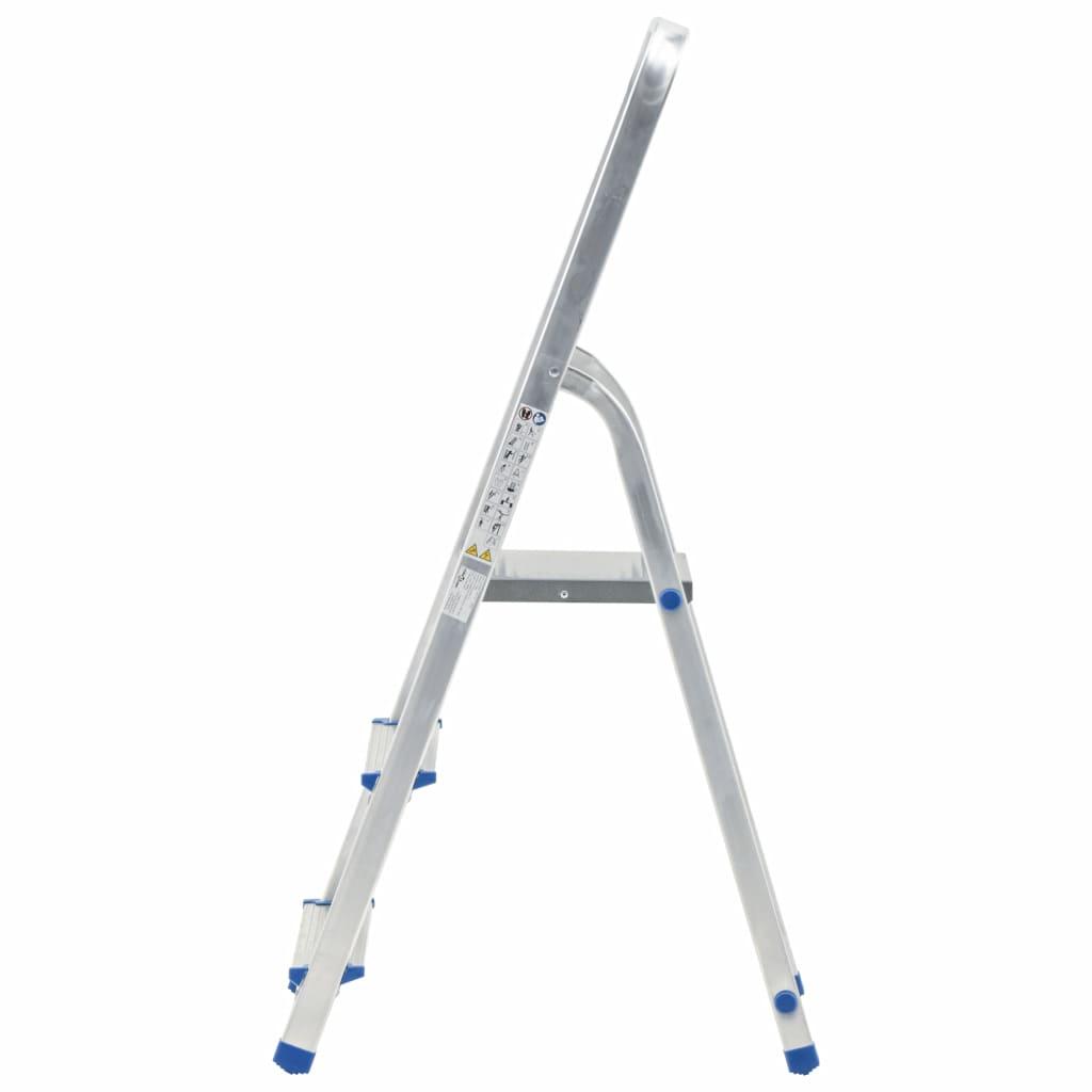 vidaXL Scară cu 3 trepte, 150 kg, aluminiu