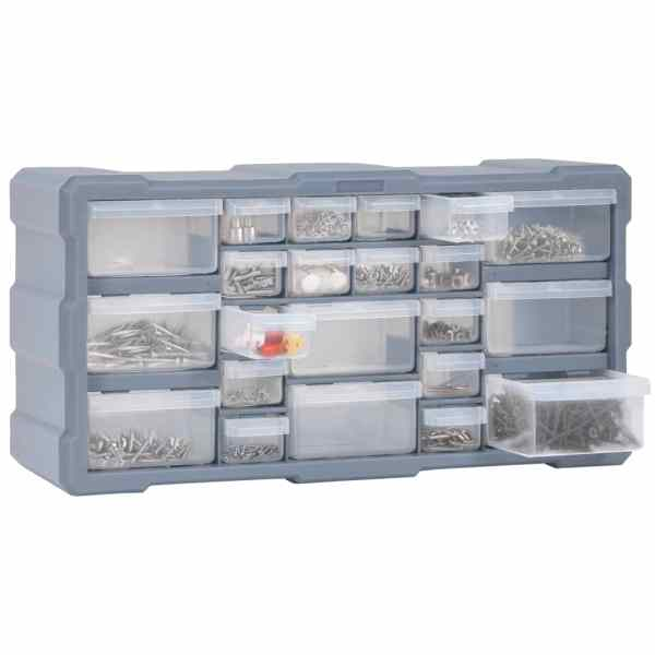 Organizator cu 22 de sertare, 49 x 16 x 25,5 cm