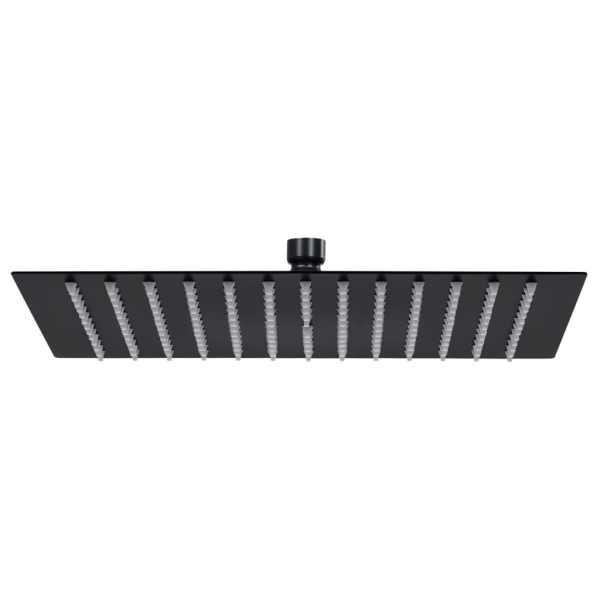 vidaXL Cap de duș tip ploaie pătrat, negru, 25×25 cm, oțel inoxidabil