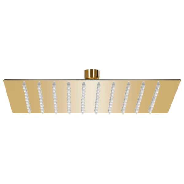 vidaXL Cap de duș tip ploaie pătrat, auriu, 20×20 cm, oțel inoxidabil
