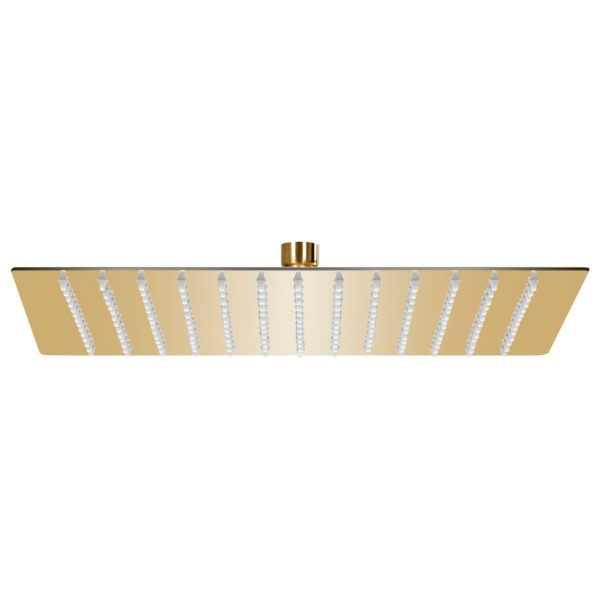 vidaXL Cap de duș tip ploaie pătrat, auriu, 25×25 cm, oțel inoxidabil