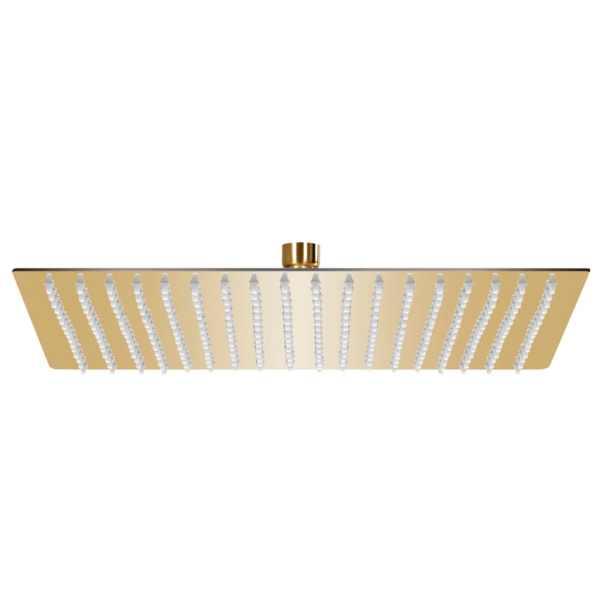 vidaXL Cap de duș tip ploaie pătrat, auriu, 50×50 cm, oțel inoxidabil