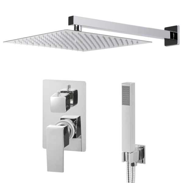 vidaXL Sistem de duș, argintiu, oțel inoxidabil 201