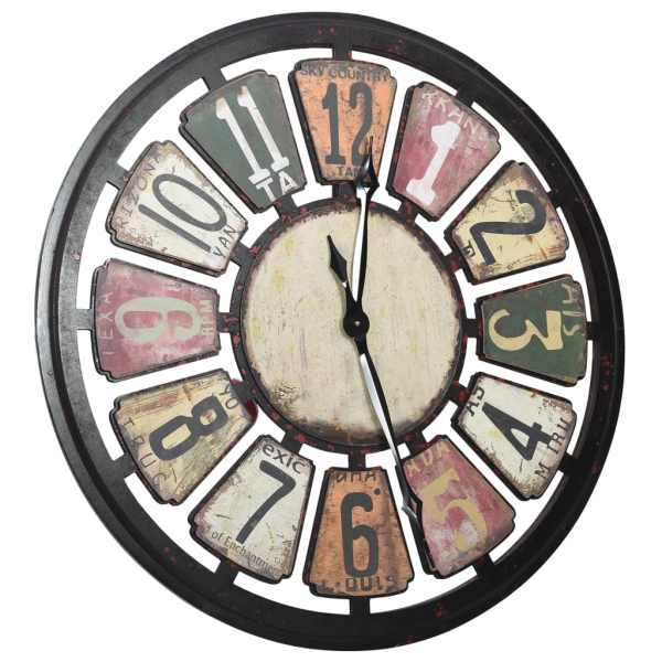 Ceas de perete, multicolor, 80 cm, MDF