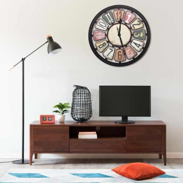vidaXL Ceas de perete, multicolor, 80 cm, MDF