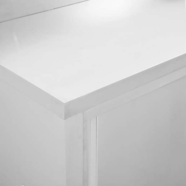 Mese de lucru uși glisante 2 buc 240x50x95 cm oțel inoxidabil