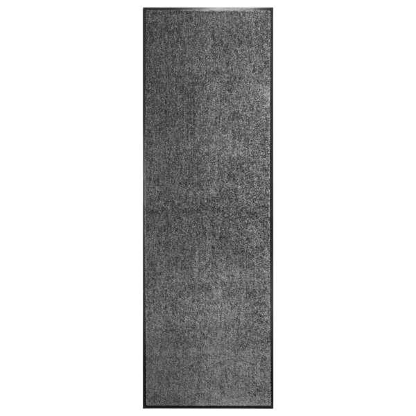 vidaXL Covoraș de ușă lavabil antracit 60×180 cm