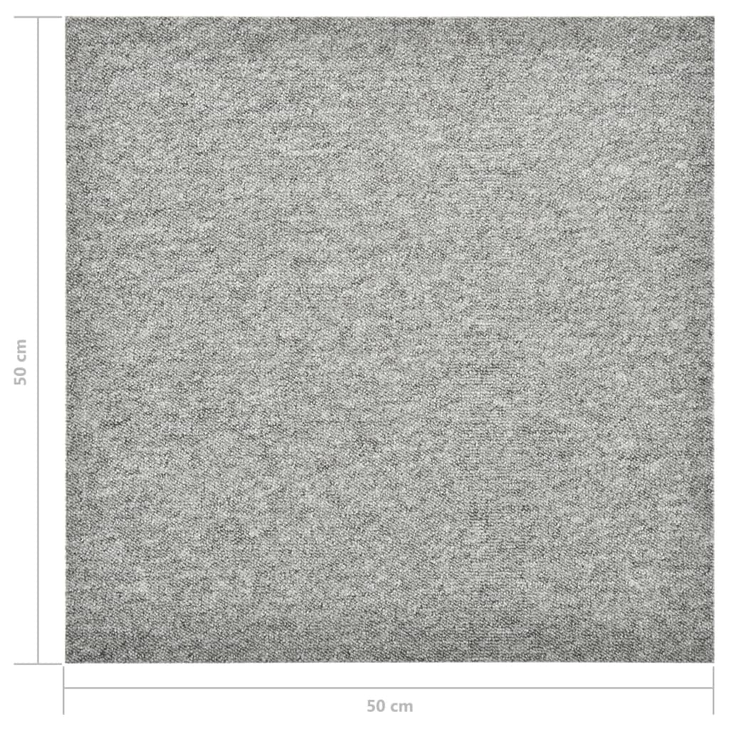 Plăci de pardoseală, 20 buc., gri deschis, 50 x 50 cm, 5 m²