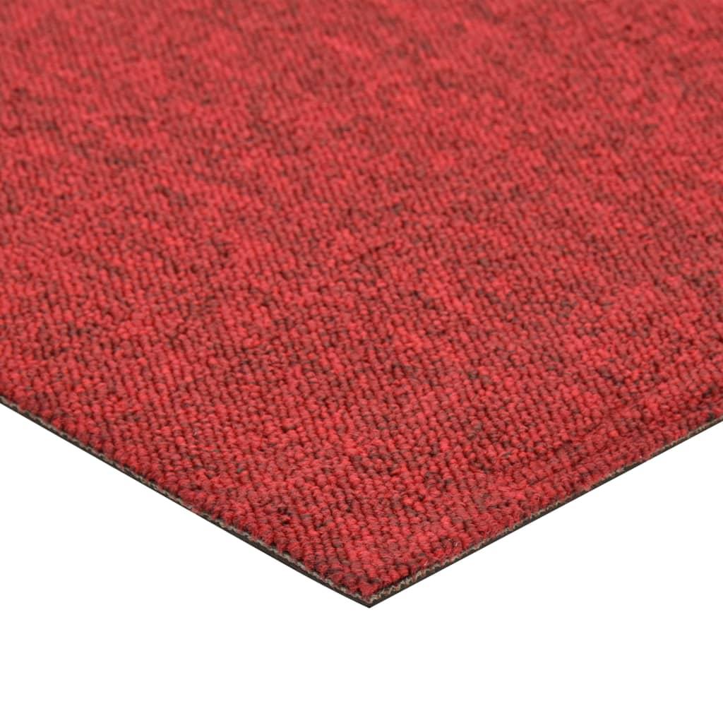 Plăci de pardoseală, 20 buc., roșu, 50 x 50 cm, 5 m²