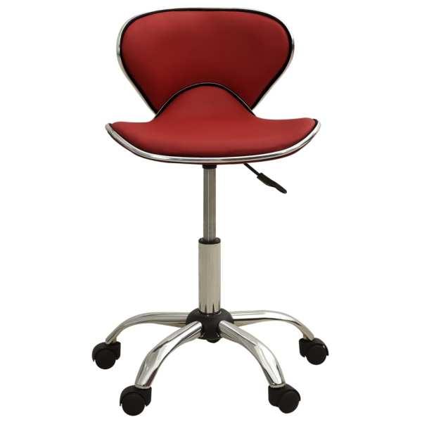 Scaun pentru salon spa, roșu, piele ecologică