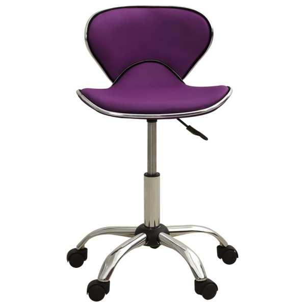 vidaXL Scaun pentru salon spa, violet, piele ecologică