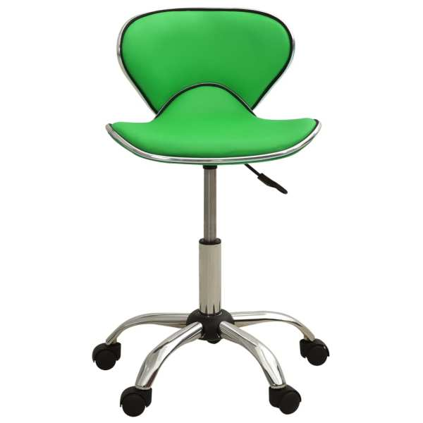 vidaXL Scaun pentru salon spa, verde, piele ecologică