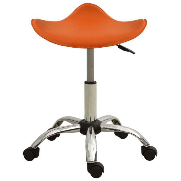 Scaun pentru salon spa, portocaliu, piele ecologică
