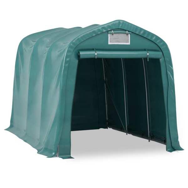 Cort de garaj, verde, 2,4 x 3,6 m, PVC