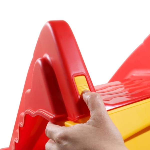 vidaXL Tobogan pliabil pentru copii de interior & exterior roșu/galben