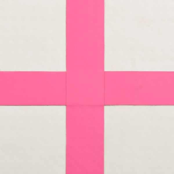 vidaXL Saltea gimnastică gonflabilă cu pompă roz 60x100x10 cm PVC