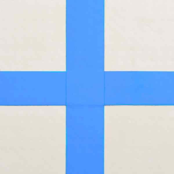 vidaXL Saltea gimnastică gonflabilă cu pompă albastru 200x200x15cm PVC
