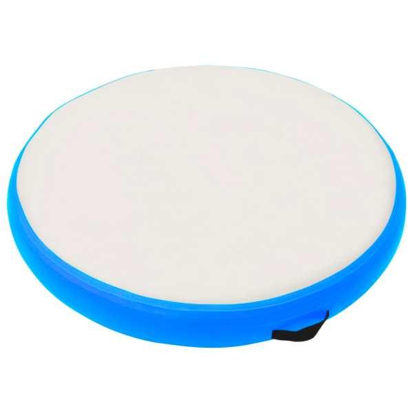 vidaXL Saltea de gimnastică gonflabilă cu pompă bleu 100x100x15 cm PVC