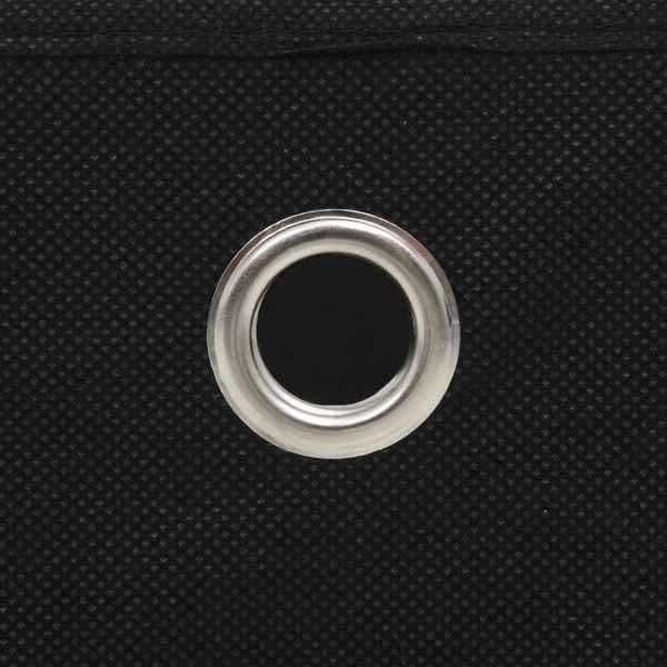 Cutii depozitare, 4 buc., negru, 28x28x28 cm, material nețesut