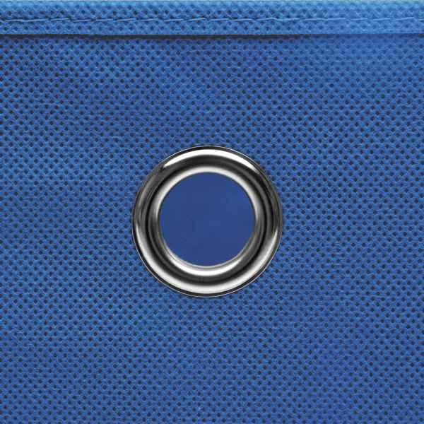 Cutii depozitare 10 buc. albastru 28x28x28 cm material nețesut