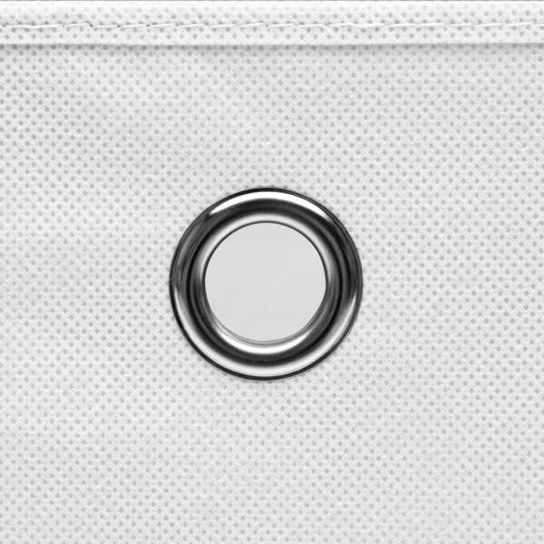 Cutii depozitare, 10 buc., alb, 28x28x28 cm, material nețesut