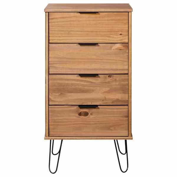 vidaXL Comodă cu sertare, 45×39,5×90,3 cm, lemn masiv de pin