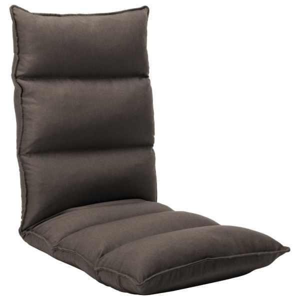vidaXL Scaun de podea pliabil, gri taupe, material textil