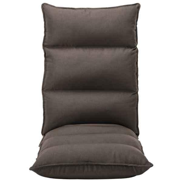 Scaun de podea pliabil, gri taupe, material textil