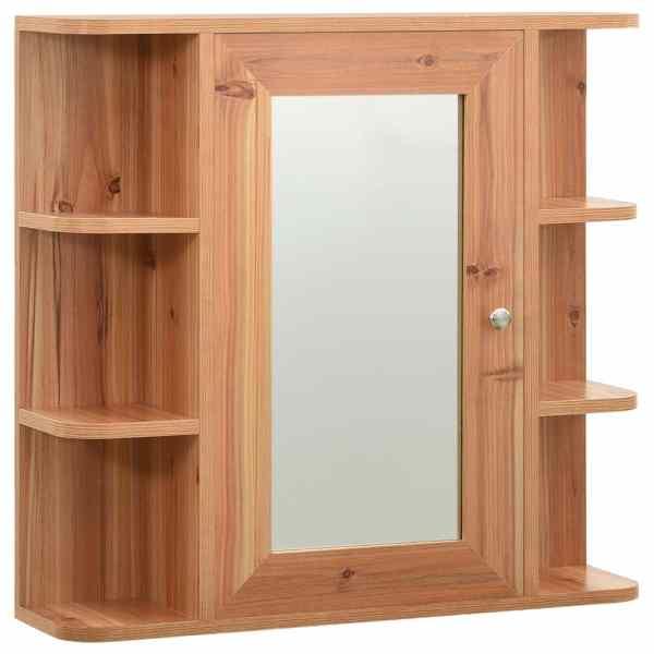 Dulap de baie cu oglindă, stejar, 66 x 17 x 63 cm, MDF