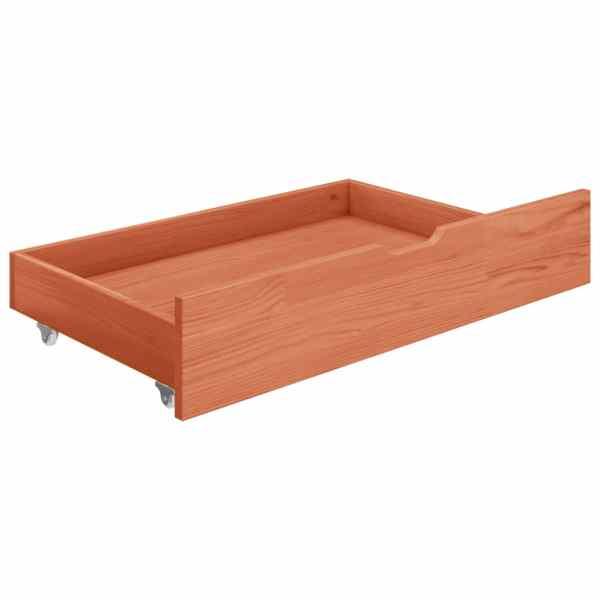 Sertare pentru pat, 2 buc., maro miere, lemn masiv de pin