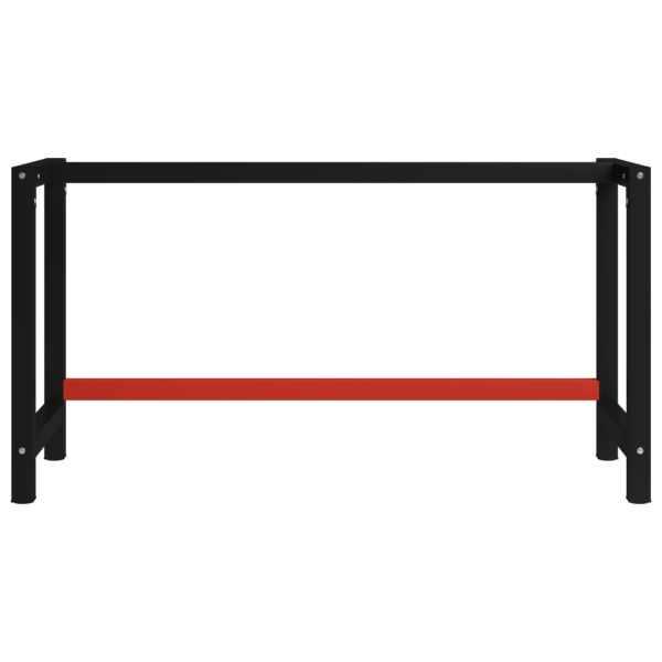 Cadru metalic banc de lucru, 150x57x79 cm, negru și roșu